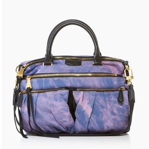 💜🌷Auth. Aimee Kestenberg Denim tie dyed bag-NEW